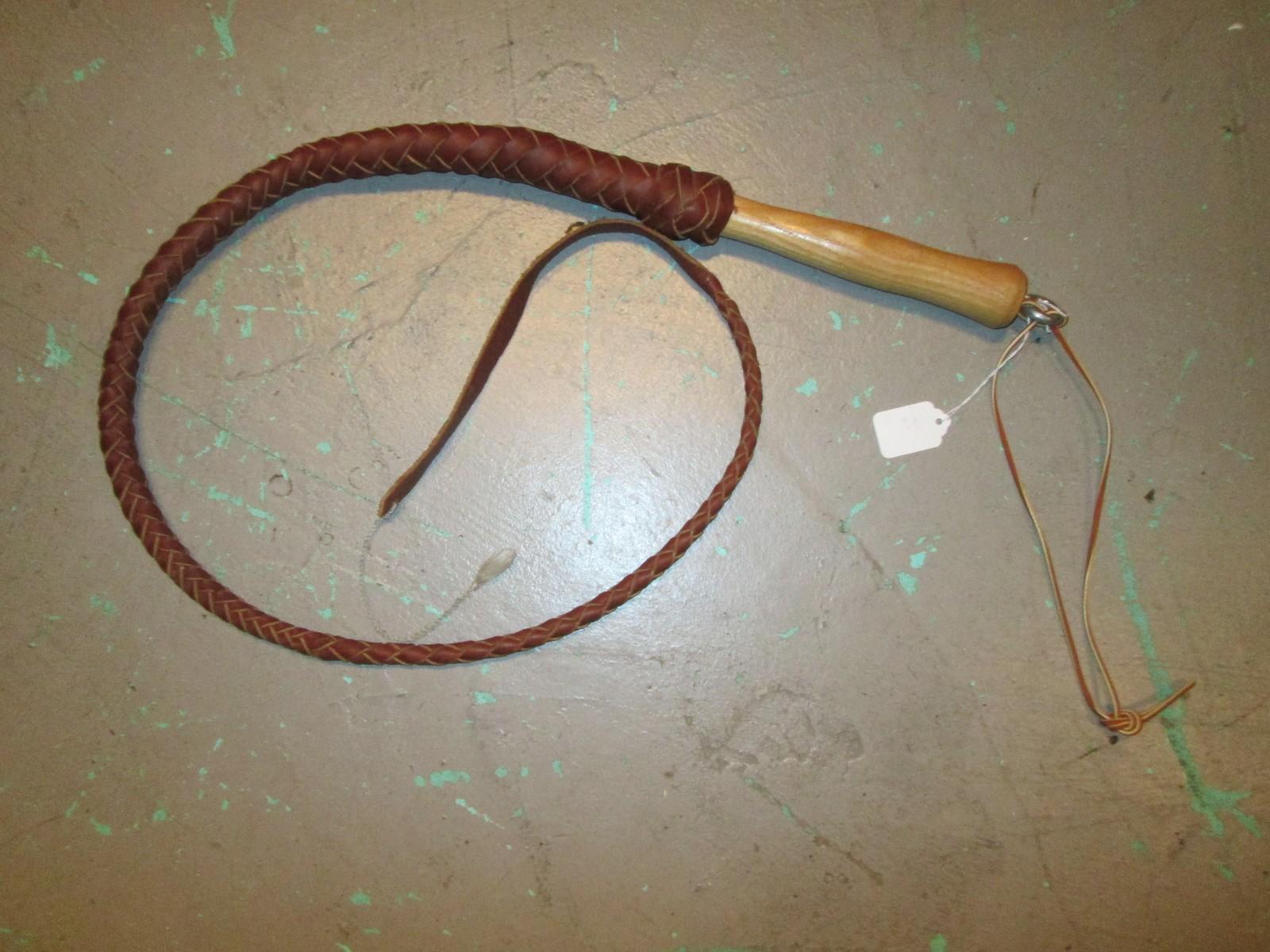 Vintage 4 Foot Bull Whip