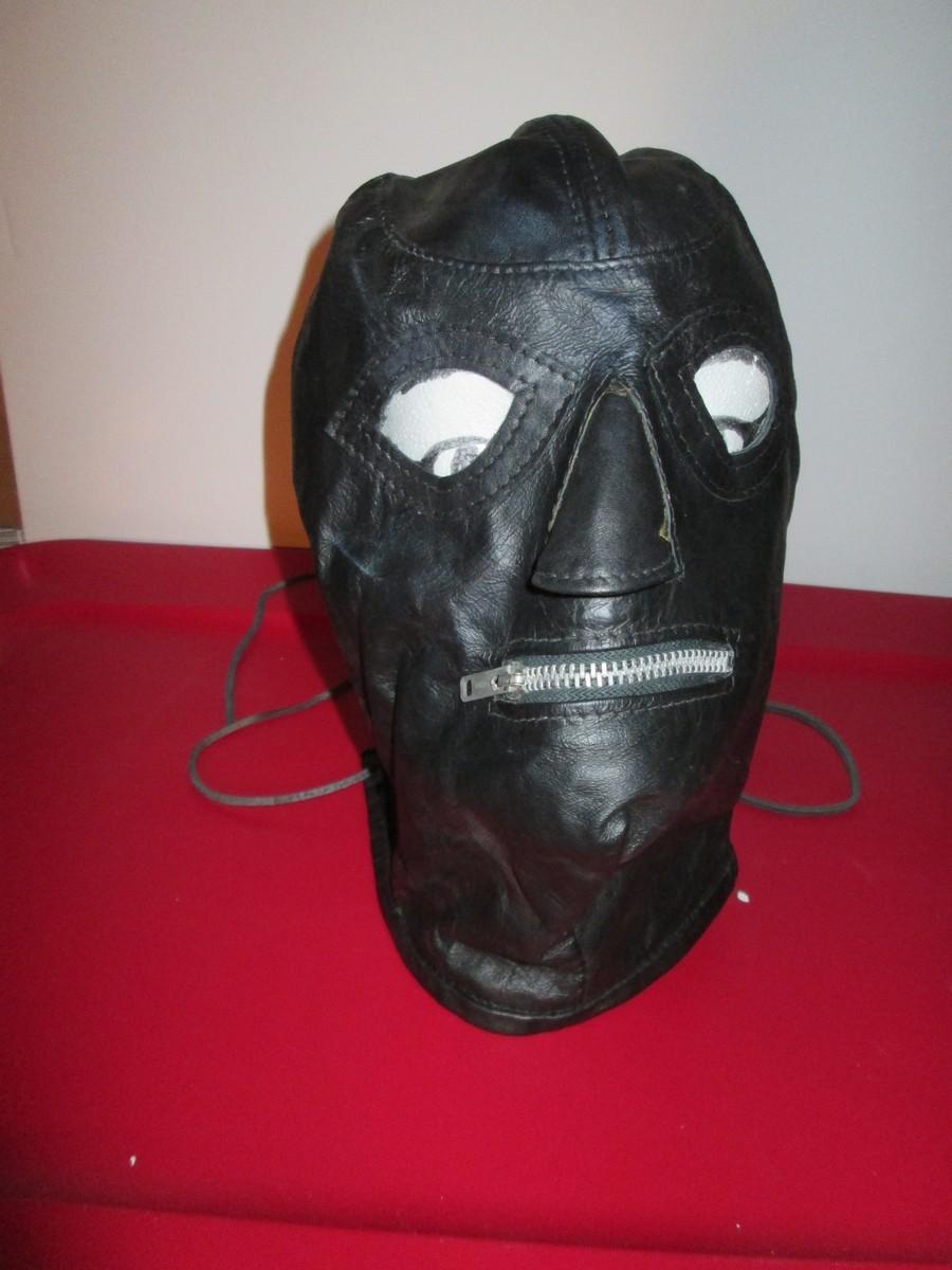 Black Leather Hood