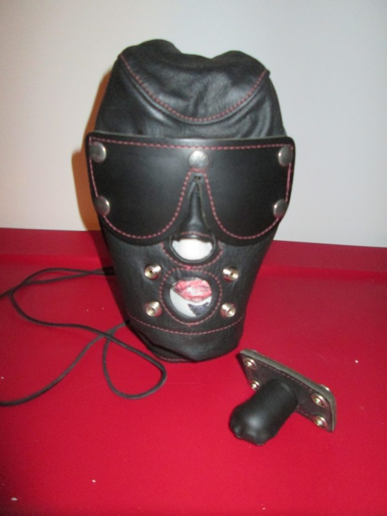 Black Leather Hood - Never Used